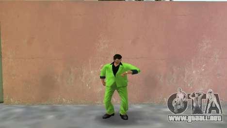 Verde traje para Tommy para GTA Vice City segunda pantalla