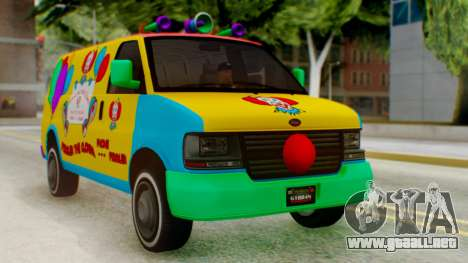 GTA 5 Vapid Clown Van para GTA San Andreas