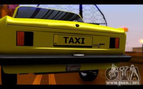 Zastava 125PZ Taxi para visión interna GTA San Andreas