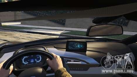GTA 5 2015 BMW I8 vista lateral trasera derecha