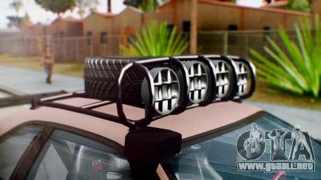 Nissan Skyline GT-R R34 RAID Spec para GTA San Andreas vista hacia atrás