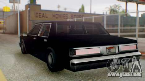 Unmarked Police Cutscene Car Stance para GTA San Andreas left
