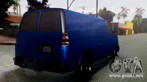GTA 5 Vapid Speedo para GTA San Andreas left