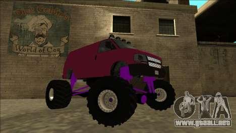 GTA 5 Vapid Speedo Monster Truck para la visión correcta GTA San Andreas