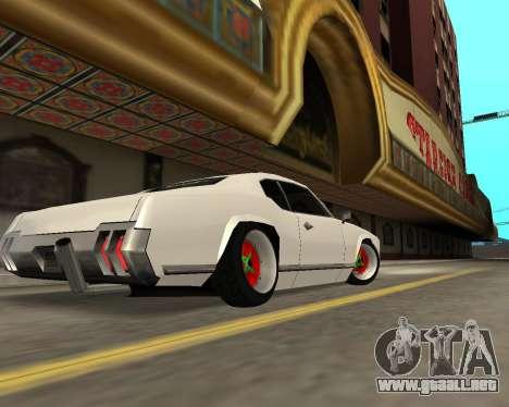 Sabre Boso para GTA San Andreas vista hacia atrás