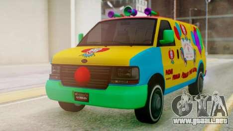 GTA 5 Vapid Clown Van para la visión correcta GTA San Andreas