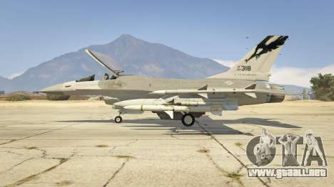 GTA 5 F-16C Fighting Falcon segunda captura de pantalla