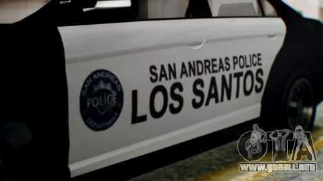 GTA 5 Police LS para la visión correcta GTA San Andreas