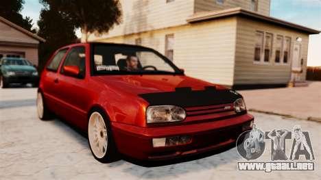 Volkswagen Golf VR6 1998 DTD Tuned para GTA 4 Vista posterior izquierda