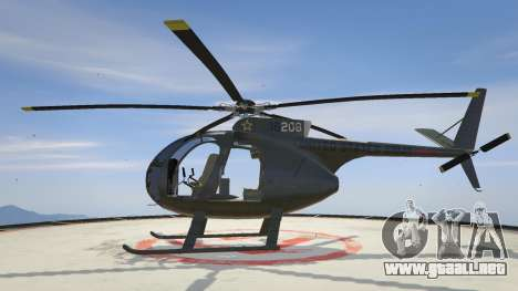 GTA 5 Hughes OH-6 Cayuse segunda captura de pantalla