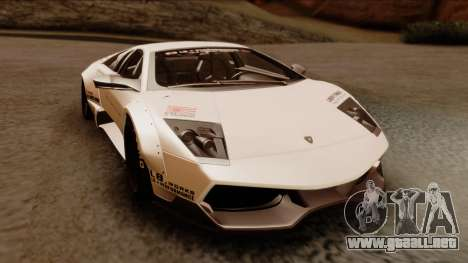 Lamborghini Murcielago LP670-4 SV 2010 para la visión correcta GTA San Andreas