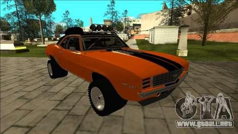 Chevrolet Camaro SS Rusty Rebel para vista lateral GTA San Andreas