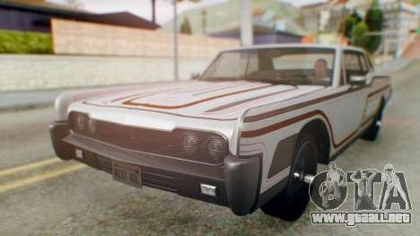 GTA 5 Vapid Chino Tunable IVF para las ruedas de GTA San Andreas