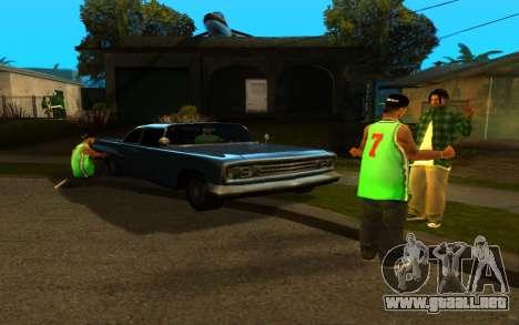 El avivamiento de la calle ganton para GTA San Andreas segunda pantalla