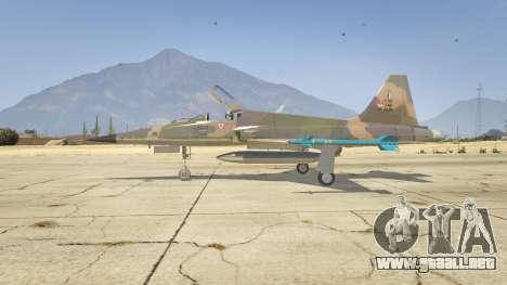 GTA 5 Northrop F-5E Tiger II FAB segunda captura de pantalla