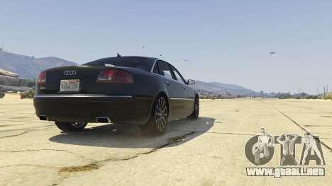 GTA 5 Audi A8 v1.2 vista trasera