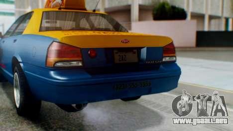 Vapid Taxi with Livery para vista lateral GTA San Andreas