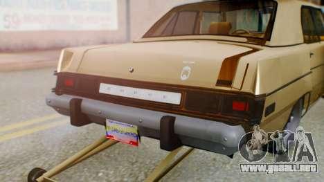 Dodge Dart 1975 Estilo Drag para visión interna GTA San Andreas