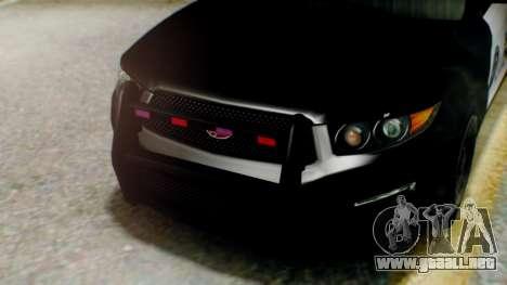 GTA 5 Police LS para GTA San Andreas vista hacia atrás