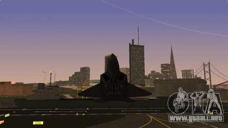F-22 Raptor PJ para GTA San Andreas vista hacia atrás