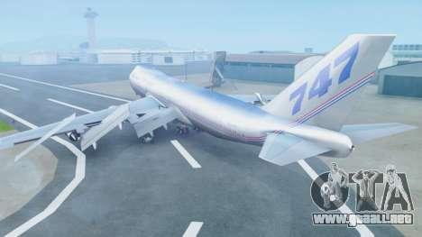 Boeing 747-400 Prototype (N401PW) para GTA San Andreas left