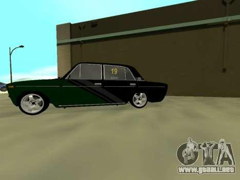 Vaz 2106 Ex animo Deporte para GTA San Andreas vista posterior izquierda