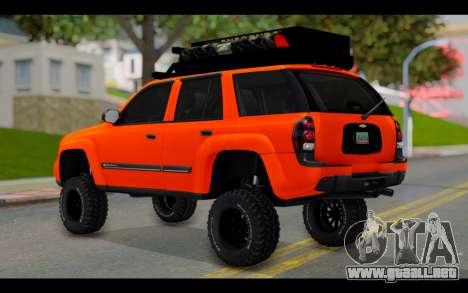 Chevrolet Traiblazer Off-Road para GTA San Andreas left