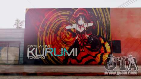 Kurumi Tokisaki Graffiti para GTA San Andreas