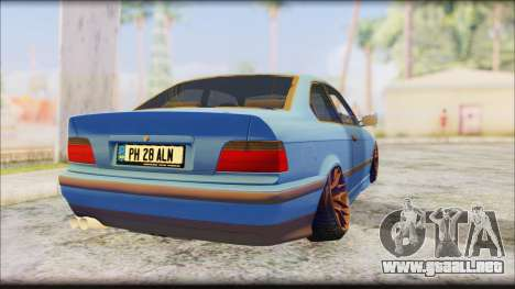 BMW M3 E36 Stanced-Hella para GTA San Andreas left