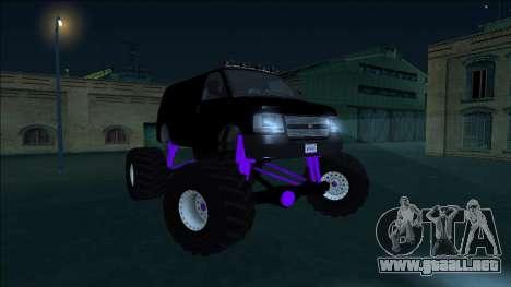 GTA 5 Vapid Speedo Monster Truck para visión interna GTA San Andreas