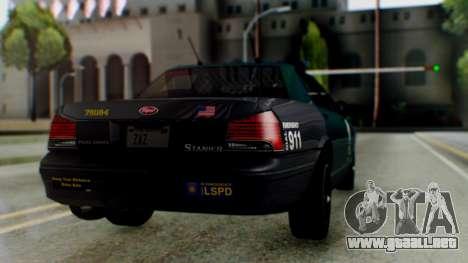 GTA 5 Vapid Stanier II Police IVF para GTA San Andreas left