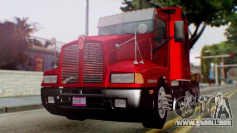 Kenworth T600 Aerocab 72 Sleeper para vista lateral GTA San Andreas