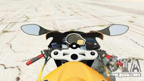 GTA 5 Honda CBR1000RR [Repsol] vista lateral trasera derecha