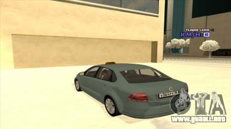 Volkswagen Polo para vista inferior GTA San Andreas