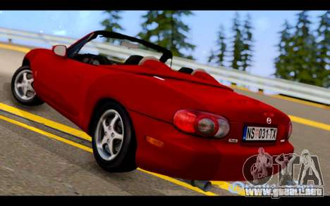 Mazda MX-5 para GTA San Andreas left