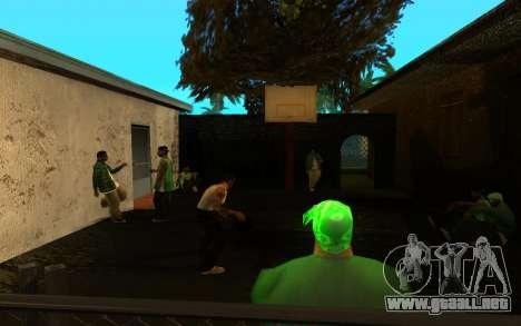 El avivamiento de la calle ganton para GTA San Andreas sexta pantalla