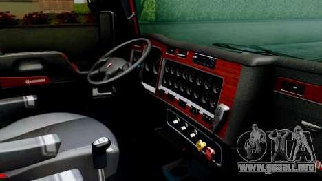 Kenworth T600 Aerocab 72 Sleeper para GTA San Andreas vista hacia atrás