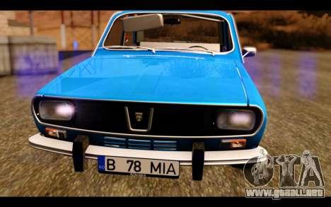 Dacia 1300 1969 para GTA San Andreas vista hacia atrás