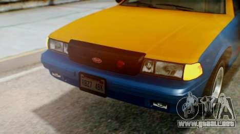 Vapid Taxi with Livery para visión interna GTA San Andreas