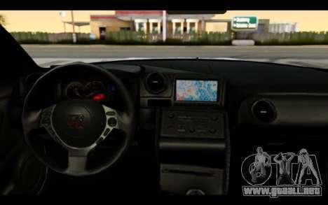 Nissan GT-R Policija para visión interna GTA San Andreas