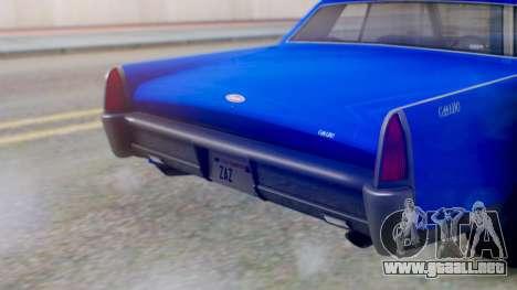 GTA 5 Vapid Chino Tunable IVF para visión interna GTA San Andreas