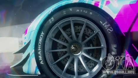 Mercedes-Benz SLS AMG GT3 2015 Hatsune Miku para la visión correcta GTA San Andreas