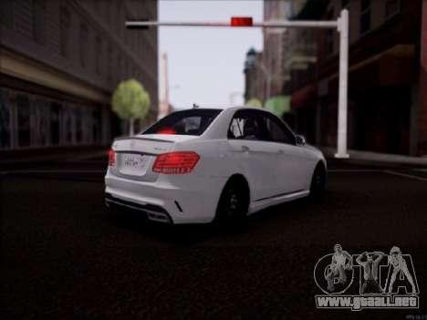 Mercedes-Benz E63 para GTA San Andreas vista posterior izquierda