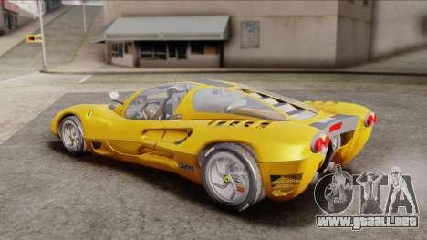 Ferrari P7 Normal para GTA San Andreas vista posterior izquierda