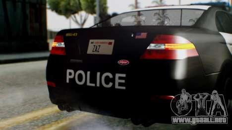 GTA 5 Police LS para la vista superior GTA San Andreas