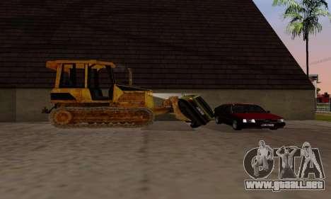 New Dozer para GTA San Andreas vista hacia atrás