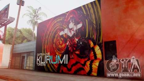 Kurumi Tokisaki Graffiti para GTA San Andreas segunda pantalla