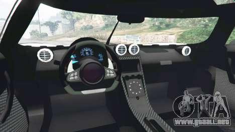 GTA 5 Koenigsegg One1 2014 v1.1 vista lateral trasera derecha