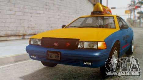 Vapid Taxi with Livery para GTA San Andreas