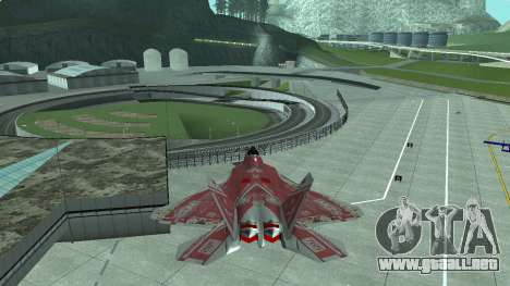 F-22 Raptor PJ para GTA San Andreas left
